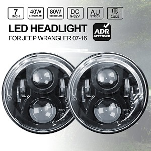 Picture of 80W 7-inch Round LED Headlights