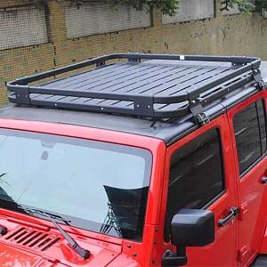 Picture of 4 Door Aluminium Roof Rack Basket Gutter mount A-alloy