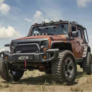 Picture of RR0434 Rugged Ridge Style Style Steel Front Winch Bull Bar