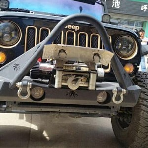 Picture of JW0341 Poison Spyder Style Steel Front Winch Bull Bar