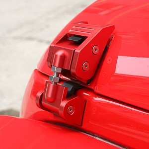 Picture of Red Color Bonnet Hood Lock Catch Kit
