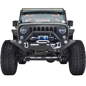 Picture of JW0272 Style Steel Front Winch Bull Bar with LED lights