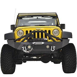 Picture of JW0316 Style Steel Front Winch Bull Bar With D-Ring & LED