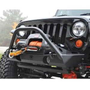Picture of Poison Spyder Brawler Lite Front Bumper with Brawler Bar, Plate Gussets, Shackle Tabs