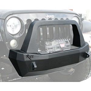 Picture of Rock Slide Rigid Shorty Front Bumper With Bull Bar, Winch Opening & Integrated Winch Plate