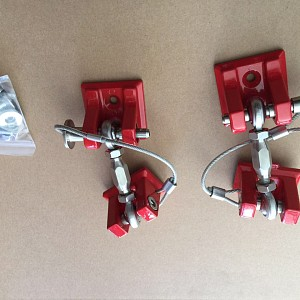Picture of Red Color Retro Style Bonnet lock Catch Kit