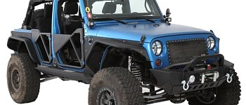 Photo of a Smittybilt XRC Gen2 Front Bumper With Winch Plate And D-Ring Mounts - Textured Matte Black Powdercoat