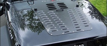 Photo of a PS Style Bonnet Heat Reduction Hood Vent Silver Color