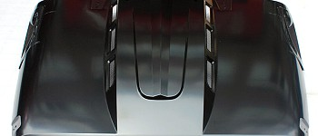 Photo of a Avenger Style Steel Bonnet Front Hood Heat Reduction
