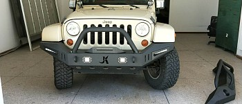 Photo of a JK Warehouse Custom Design Front Bull Bar With LED Lights ON SPECIAL