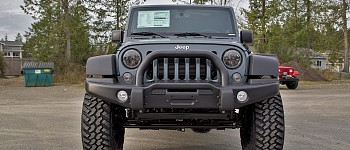 Photo of a AEV Style Front Bumper With Winch Cradle, Bullbar, Tow Rings And Fog Light Inserts