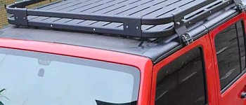 Photo of a 4 Door Aluminium Roof Rack Basket Gutter Mount A-alloy