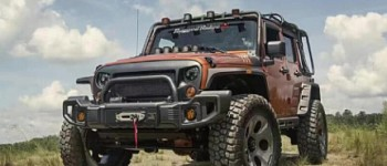 Photo of a RR0434 Rugged Ridge Style Style Steel Front Winch Bull Bar