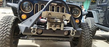 Photo of a JW0341 Poison Spyder Style Steel Front Winch Bull Bar