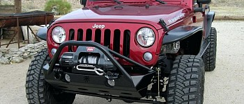 Photo of a JW0324 Poison Spyder Style Steel Front Winch Bull Bar