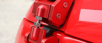 Photo of a Red Color Bonnet Hood Lock Catch Kit
