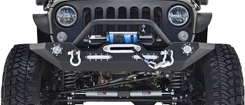 Photo of a JW0272 Style Steel Front Winch Bull Bar With LED Lights