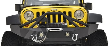 Photo of a JW0316 Style Steel Front Winch Bull Bar With D-Ring & LED