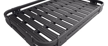 Photo of a 2 Door Aluminium Roof Rack Basket Gutter Mount A-Alloy