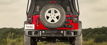 Photo of a Rugged Ridge Spartacus Style Rear Bumper Bar With Recovery Points