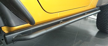 Photo of a 4 Door 10th Style Rock Sliders Running Board Side Steps