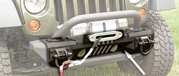 Photo of a Rugged Ridge Front XHD Aluminum Winch Bumper