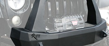 Photo of a Rock Slide Rigid Shorty Front Bumper With Bull Bar, Winch Opening & Integrated Winch Plate
