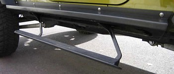 Photo of a Rock Slide Step Sliders - Black Textured Powder Coat