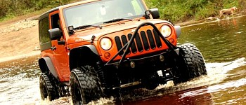 Photo of a JW0325 Poison Spyder Style Steel Front Winch Bull Bar