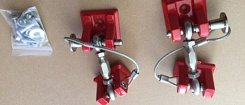 Photo of a Red Color Retro Style Bonnet Lock Catch Kit
