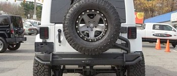 Photo of a AEV Style Steel Rear Bumper Bar With Spare Wheel Carrier