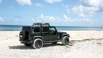 Jeep Wrangler at Fraser Island