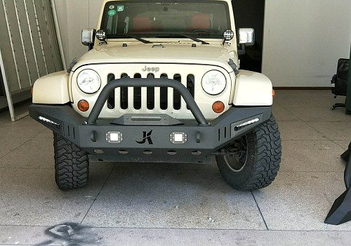 Photo of JK Warehouse Custom design front bull bar with LED Lights ON SPECIAL