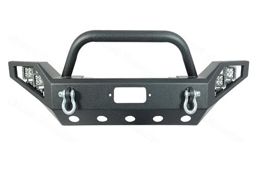 Photo of JW0308 Style Steel Front Winch Bull Bar with LED lights