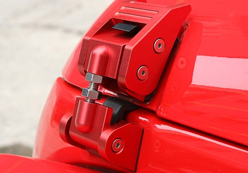 Photo of Red Color Bonnet Hood Lock Catch Kit