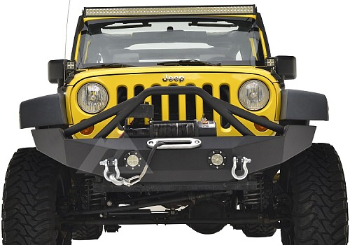 Photo of JW0316 Style Steel Front Winch Bull Bar With D-Ring & LED