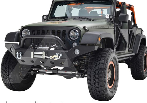 Photo of JW0294 Style Steel Front Winch Bull Bar