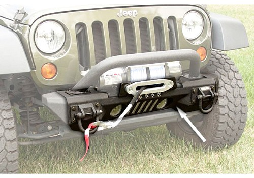 Photo of Rugged Ridge Front XHD Aluminum Winch Bumper