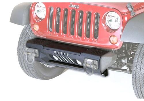 Photo of Rugged Ridge Front XHD Aluminum Bumper, Powder Coated - Black